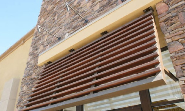 Wood Powder Coating Awning 71