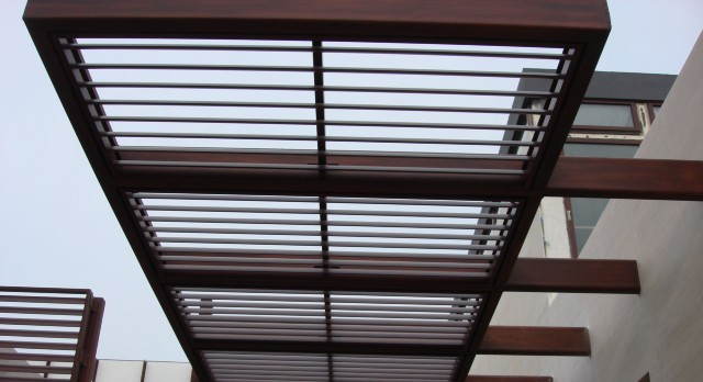 Wood Powder Coating Awning Miami1